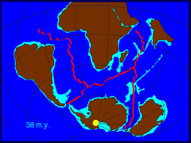 Map Of Australia 50 Million Years Ago.A Geological Timeline Of Antarctica History Of The Continent