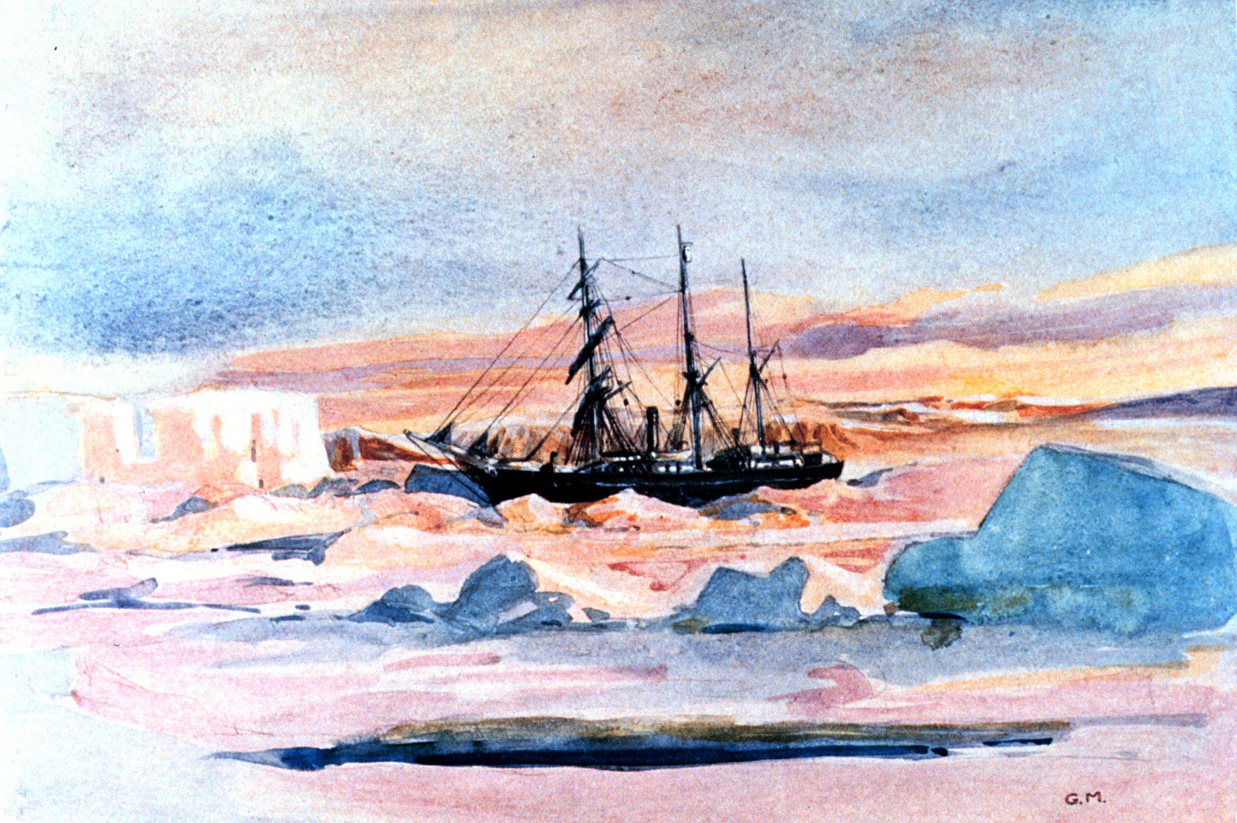 Image result for ernest shackleton antarctic expedition painting