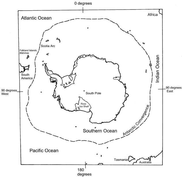 Map of Antarctica