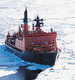Yamal, atomic ice breaker, not sure about the paint job though, looks a bit sore to me