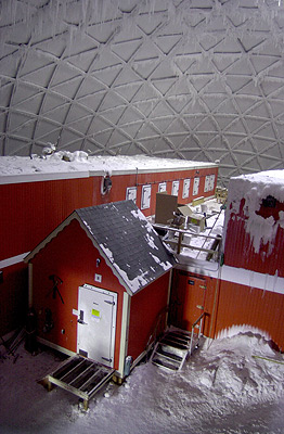 South Pole Station Buildings At The South Pole