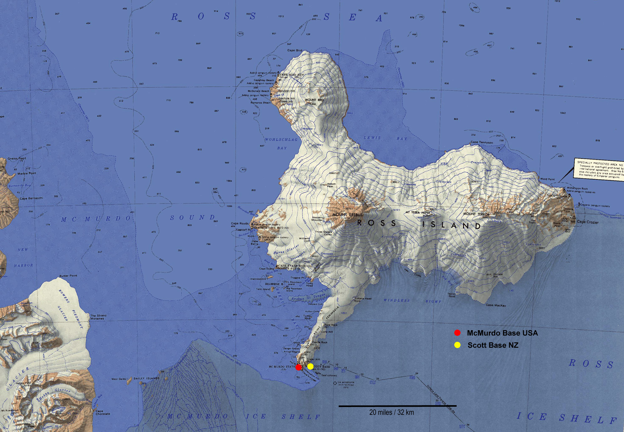 McMurdo Station Antarctica - Antarctic research stations map