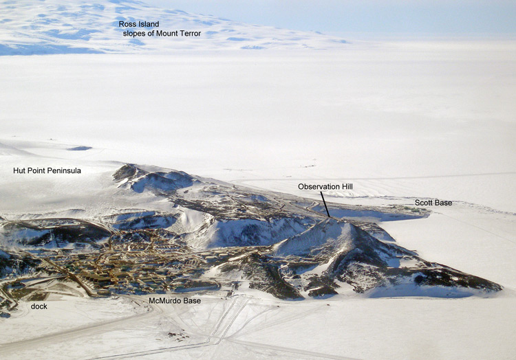 McMurdo and Ross Island from the air