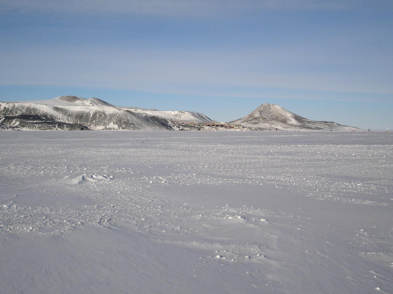 "Photo 2000s Antarctica /""McMurdo Station at Night/"""