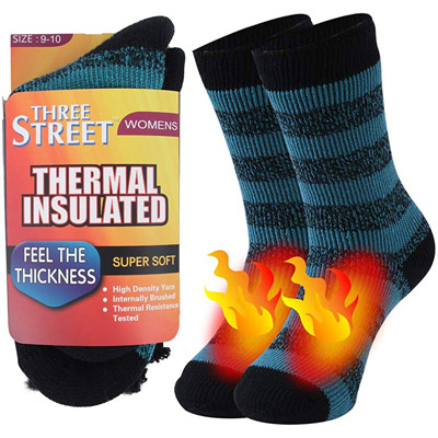Feet Warmers Cold Weather Insulated Thermal Socks Pack of 2