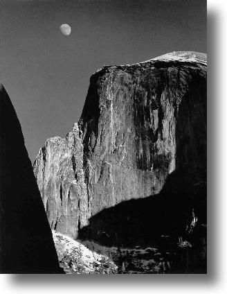 Ansel Adams Moonrise Before After