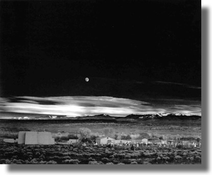 Image result for ansel adams moonrise