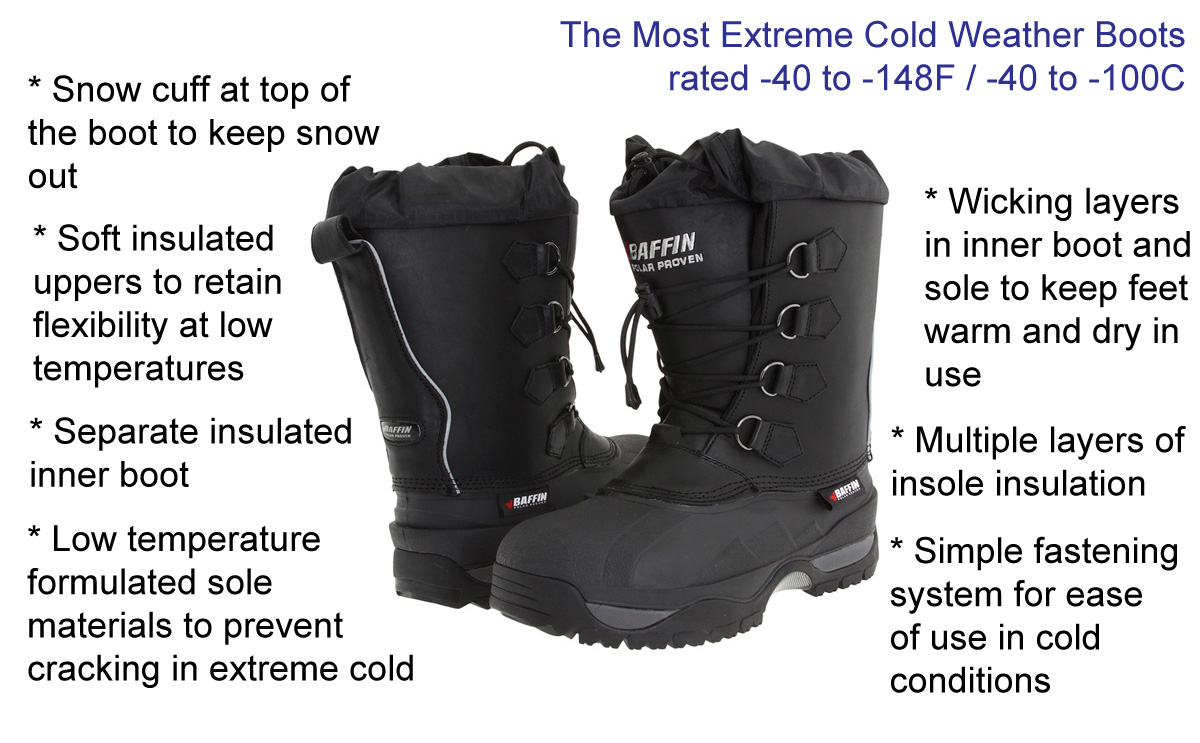 Cold Weather Boots Keep your feet warm in extreme cold weather