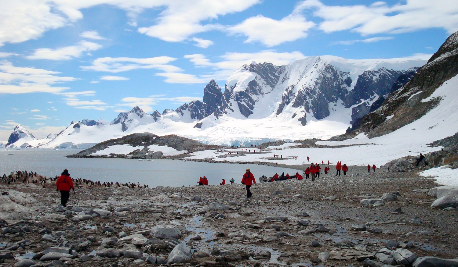 the antarctic population who lives in antarctica