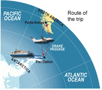 Fly to antarctica flights and cruise antarctic for Can i go to antarctica