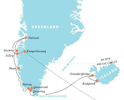 Greenland travel guide to help plan your vacation to the polar north a longer trip of 13 days join a ship at reykjavik and combining iceland with the southern fjords of greenland and the unesco world site of ilulissat isfjord gumiabroncs Choice Image