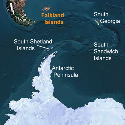 Islands Shetlands Map