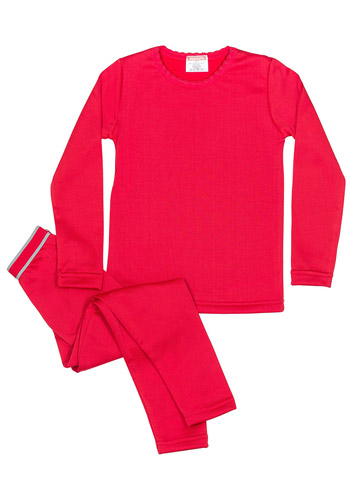 1e1cf361e Girls - Fleece Lined Thermal Underwear Set Top and Bottom