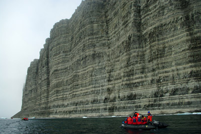 Prince Leopold Island - 300 Meter Cliffs - Cruising by in Zodiacs