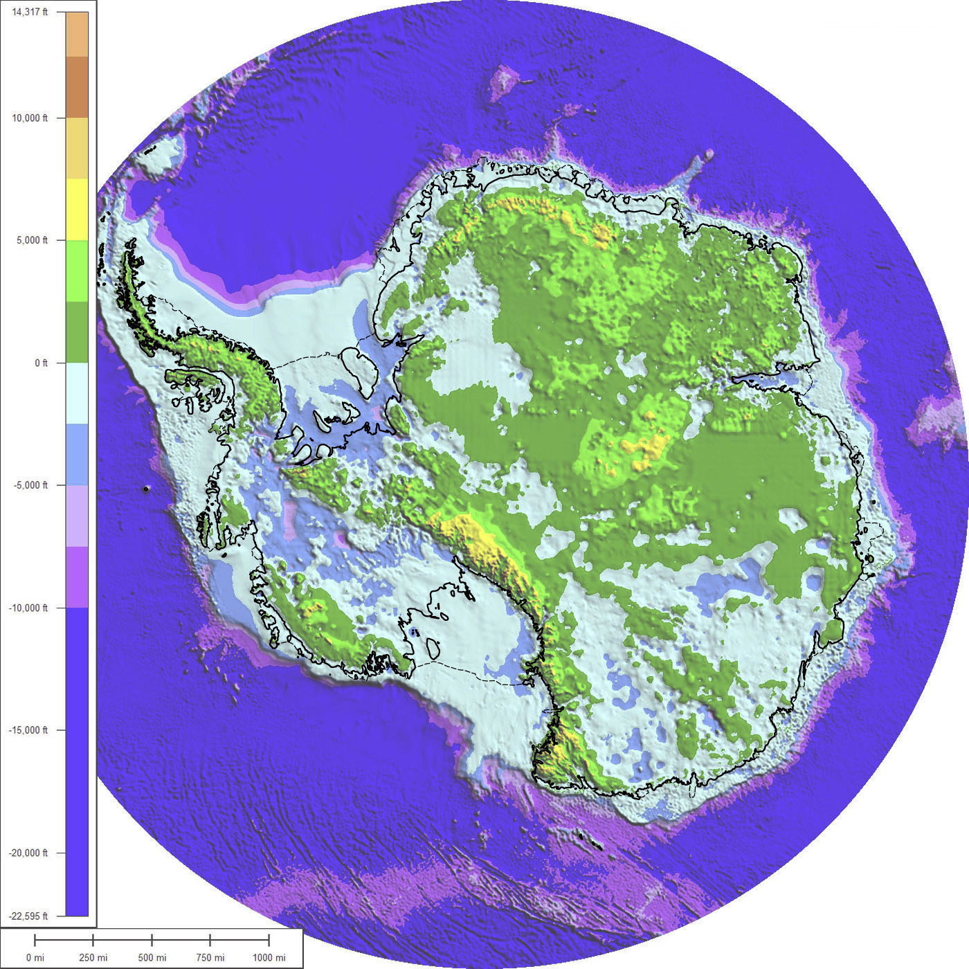 antarctica without ice map Maps Of Antarctica antarctica without ice map