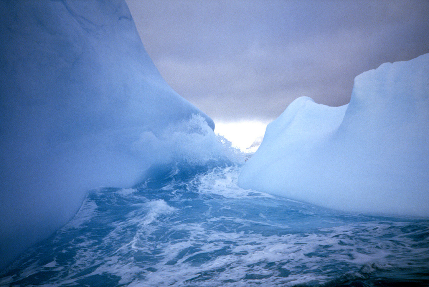 wave wash on an iceberg