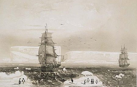 L'Astrolabe and Zéléé in Antarctic waters