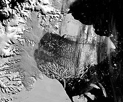 Larsen B iceshelf, 5th March 2002