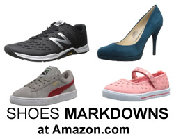 Shoe markdowns