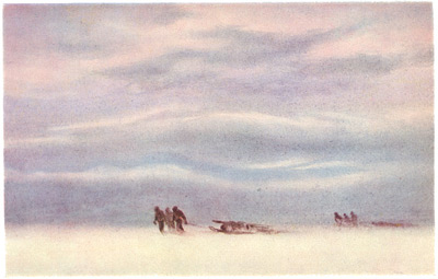 Sledding, Edward Wilson watercolour